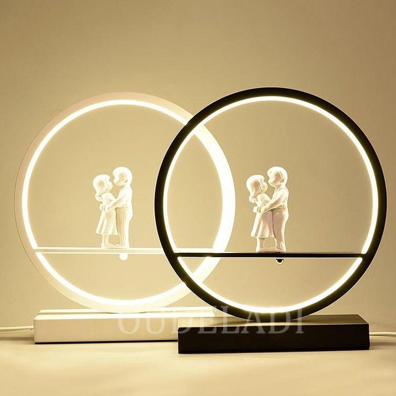 Angel Table Lamp Bedroom Bedside LED Light Modern