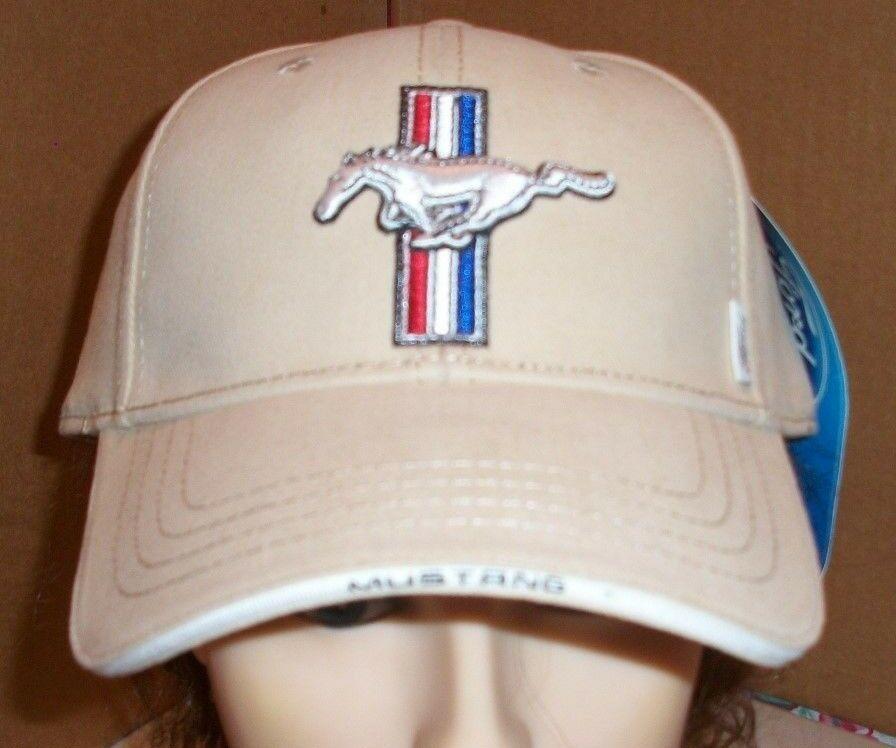 Ford Mustang Logo Beige Baseball Hat