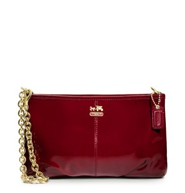 Madison Patent Large Wristlet w/ Chain from Coach