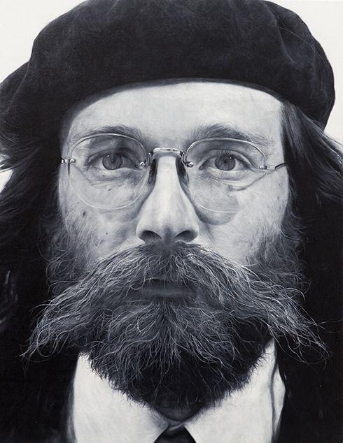 Alex Bierk. Ken E. Nicholls, 2013. Oil on canvas, panel ...