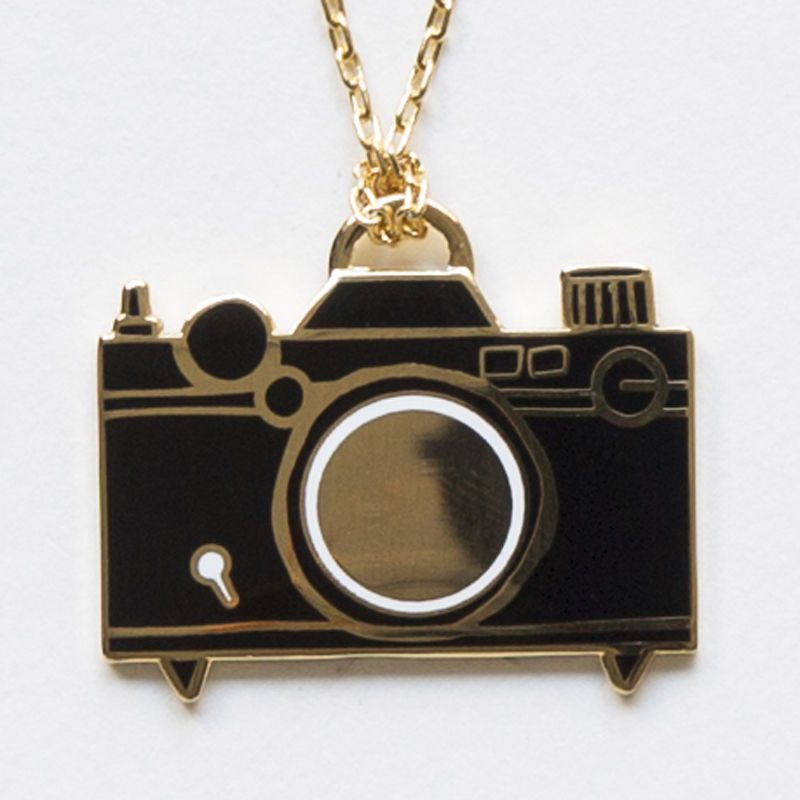 Camera pendant pinterest cameras pendants and camera necklace i love vintage cameras and if you do too or know someone who does this is an awesome gift gilded gold and enamel camera pendant necklace is keeping it aloadofball Gallery