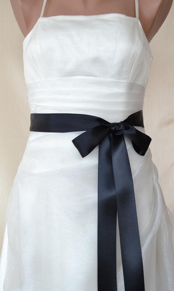Photo of Black Double faced Satin Ribbon Wedding Dress Sash Belt #black celebrity wedding…