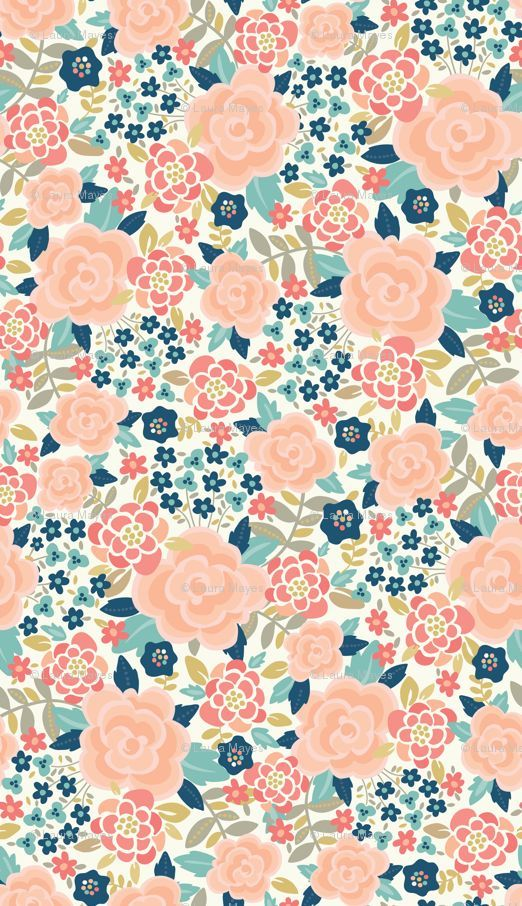 bold floral fabric, wallpaper & gift wrap Spoonflower