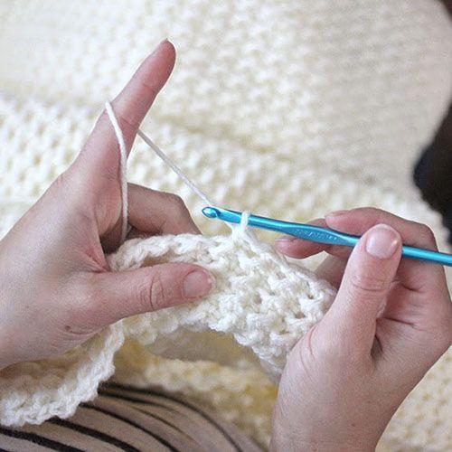Crochet Even Moss Stitch Blanket Crochet Crochet Moss Stitch