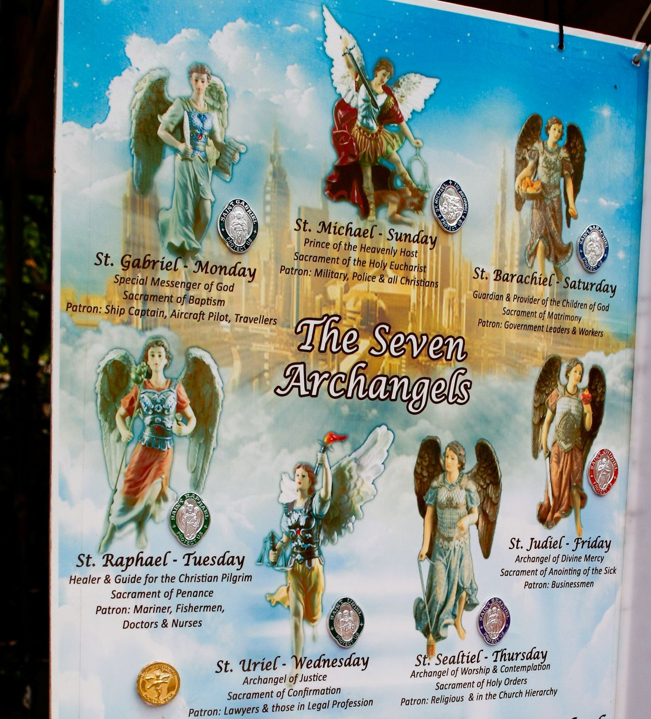 Archangels names and meanings catholic - Only In The Philippines Shrine Dedicated To 7 Archangels In The Heart Of Manila