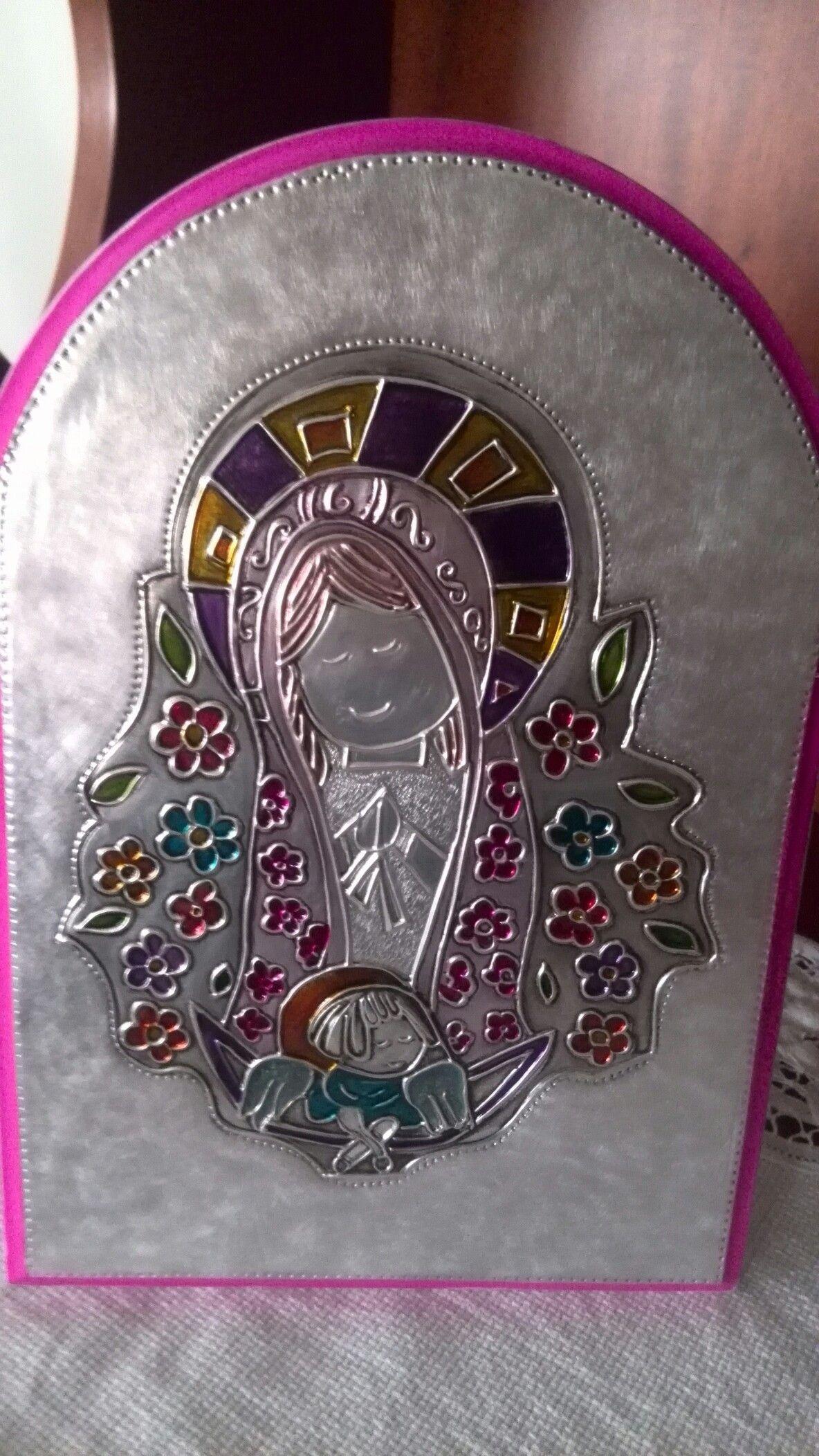 Virgen repujada en aluminio | repujado | Pinterest