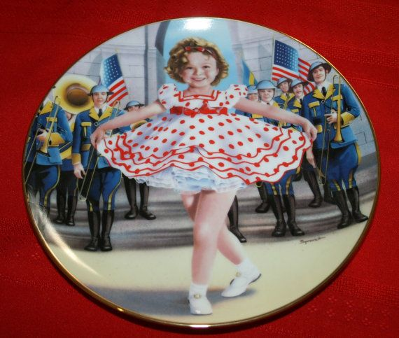 Shirley Temple Plate  Stand Up and Cheer by BeAnnsAttic on Etsy