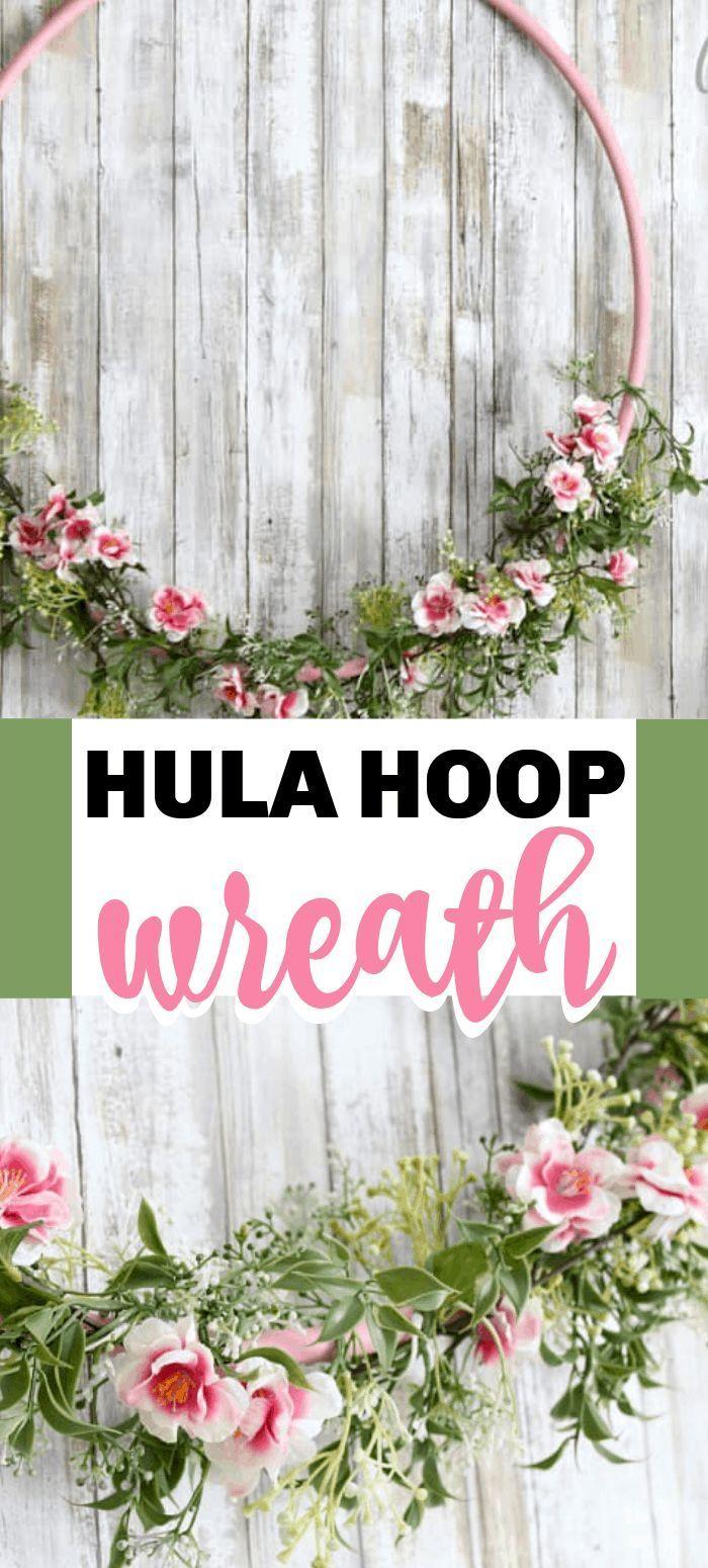 Photo of Hula Hoop Wreath: make a giant cherry blossom hula hoop wreath!