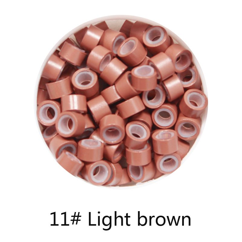 1000pcs 11 light brown 5mm3mm3mm silicone micro ringlinks 1000pcs 11 light brown 5mm3mm3mm silicone micro ringlinks pmusecretfo Image collections