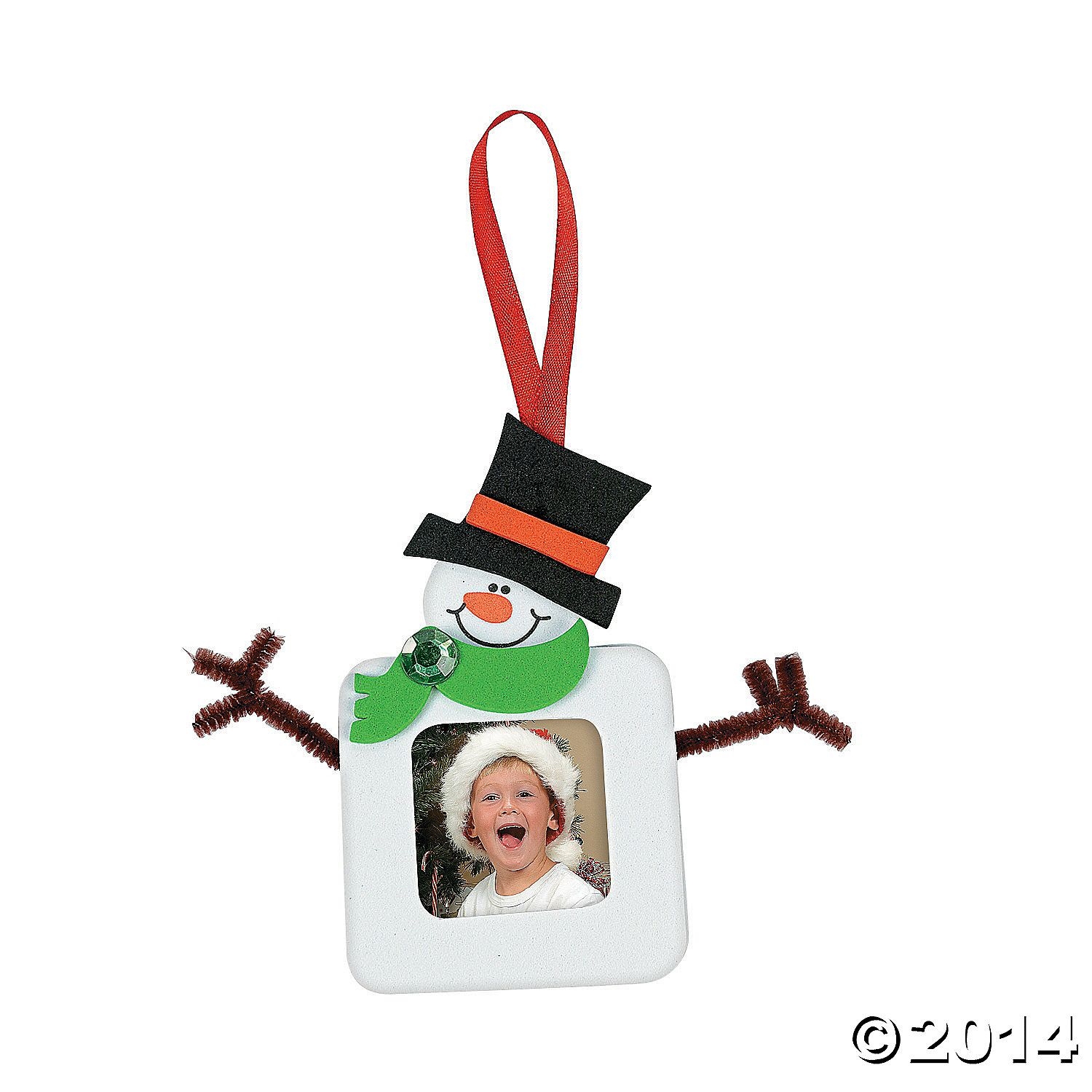 Square Snowman Picture Frame Christmas Ornament Craft Kit Orientaltrading Com Picture Frame Christmas Ornaments Christmas Ornament Crafts Christmas Ornaments