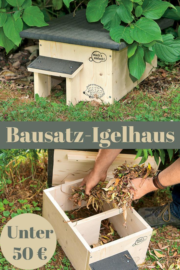 igelhaus bauen | Животные | pinterest