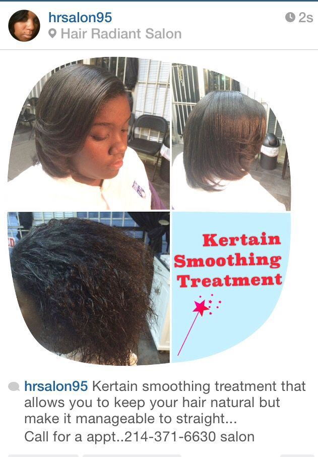 Kertain smoothing treatment