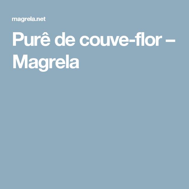 Purê de couve-flor – Magrela