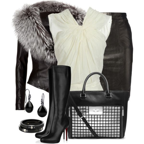 Fur Trimmed Coat, created by daiscat on Polyvore