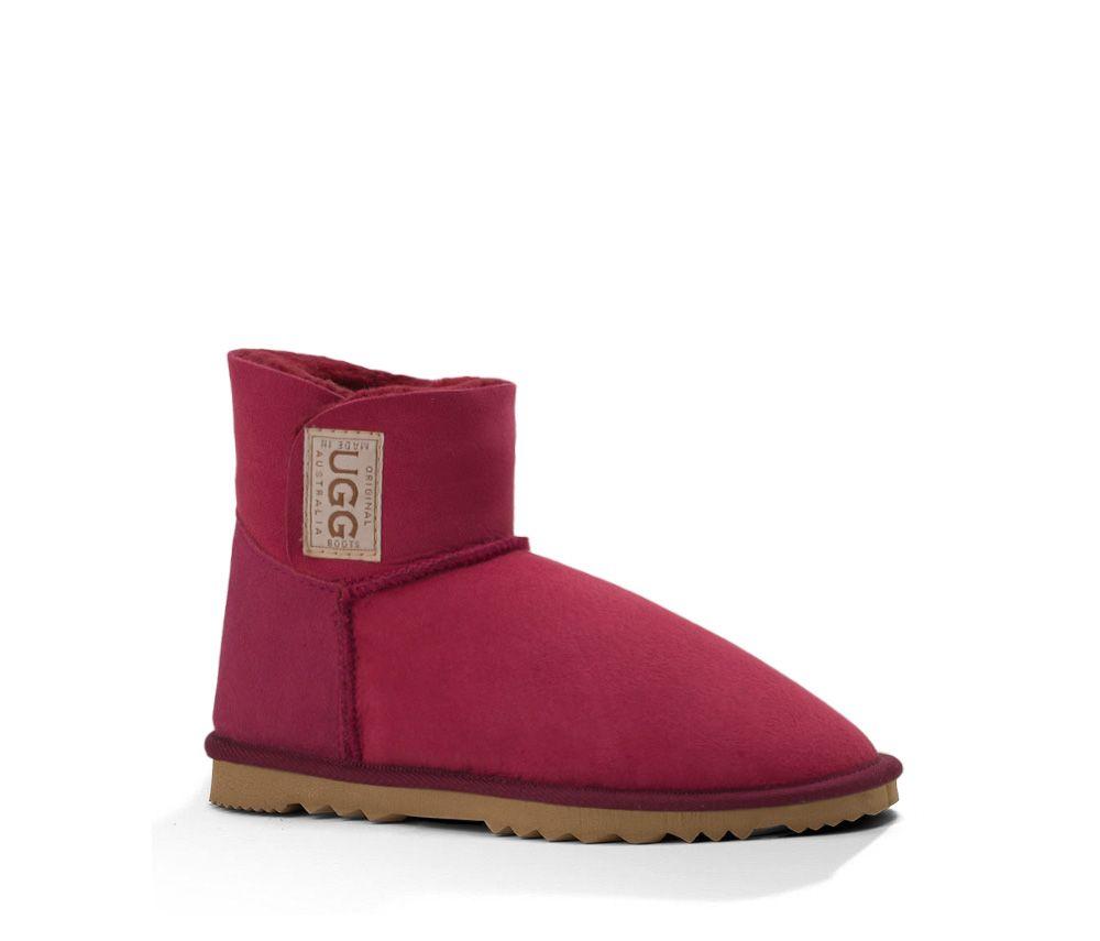 Ruby Mini Velcro UGG Boots. Made in Australia by Original UGG Boots. #uggboots #australianmade #ugg #uggs #sheepskin #ruby #red