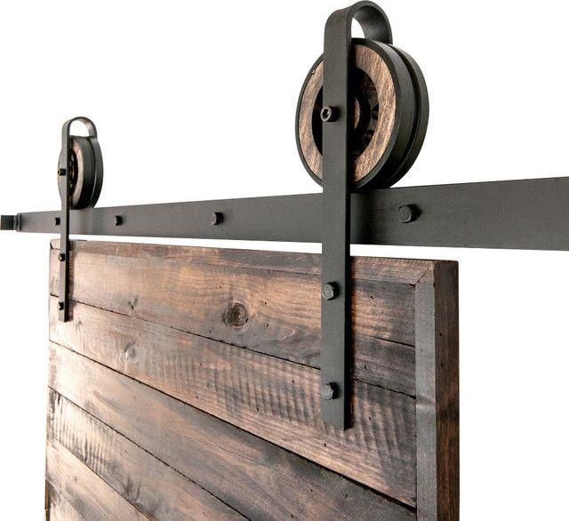 Toby Sliding Barn Door Hardware Set 5 Maple Premium Steel Https Www Houzz Com Photos