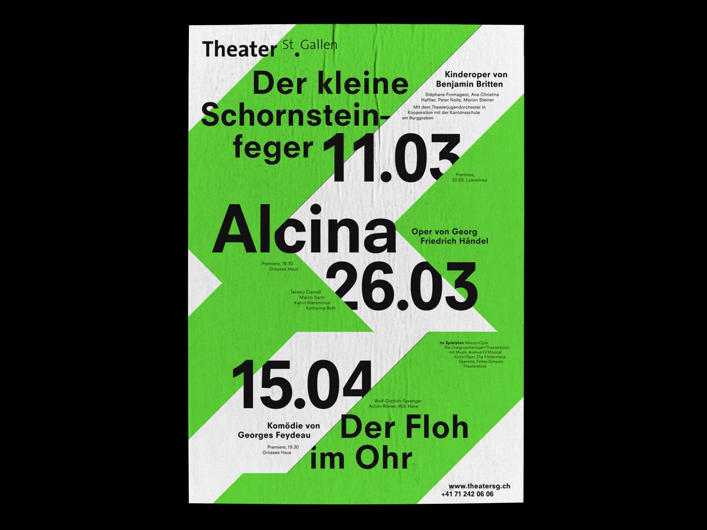 Bureau Collective, Theater St.Gallen | POSTERS typography only (just ...