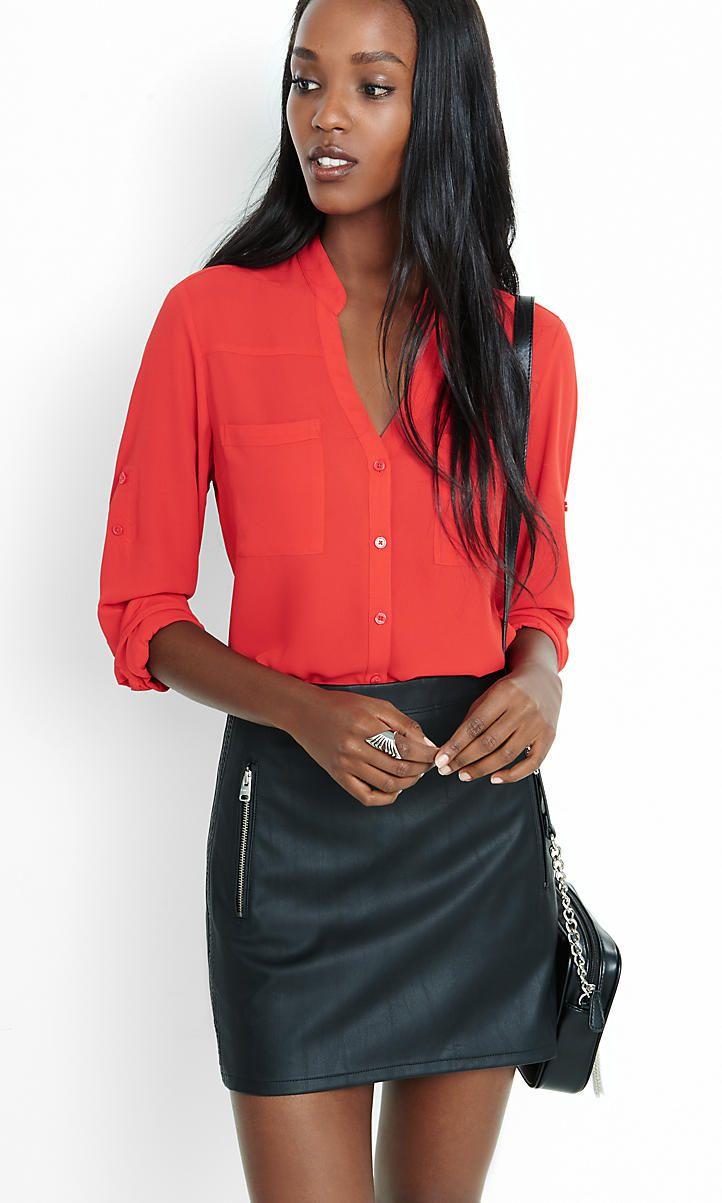 Womens Original Fit Portofino Shirts Express Fashion Summer