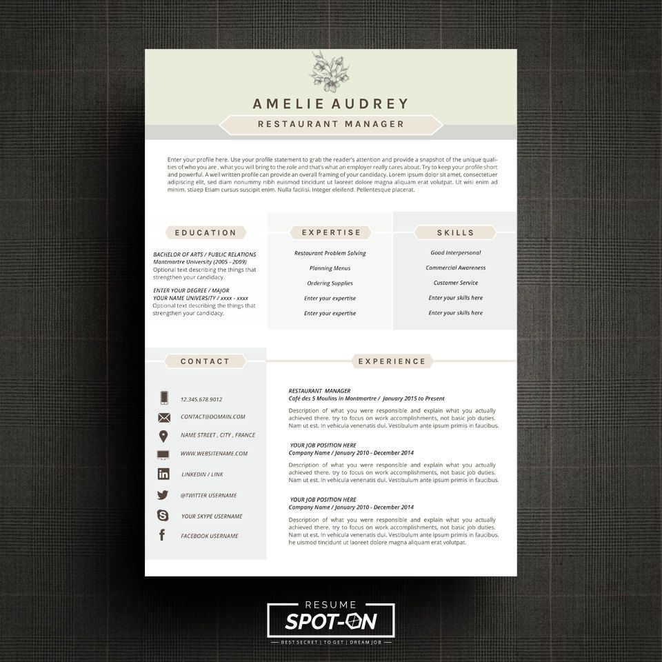 Design Resume Template Spotlighting You To The Best Candidate With Uniquecredibility