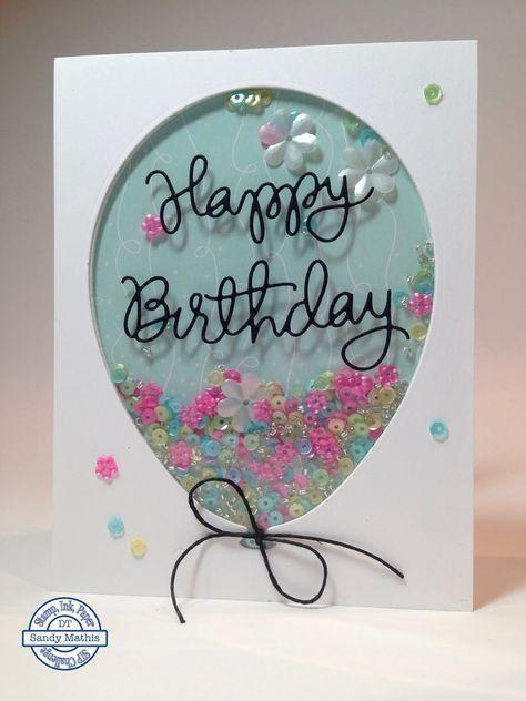 Birthday Balloon Shaker Card #scrapbook