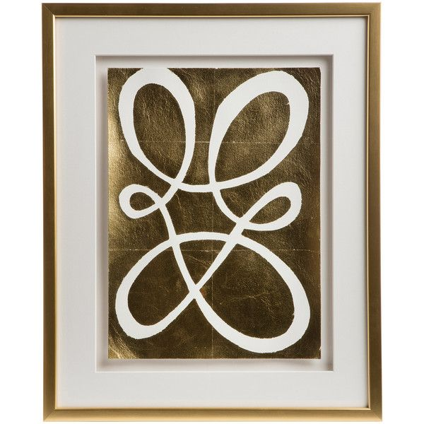 Cleo Modern Classic Framed Gold Pressed Wall Décor IV ($777 ...