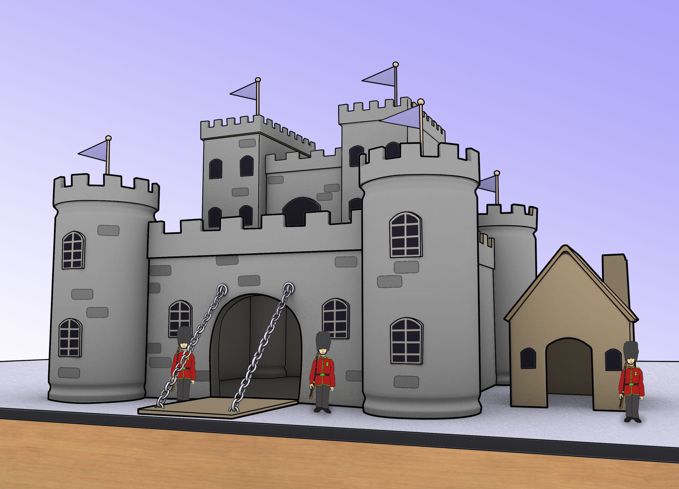 Make a Model Castle | Imaginations, Material:cotton, and How to get