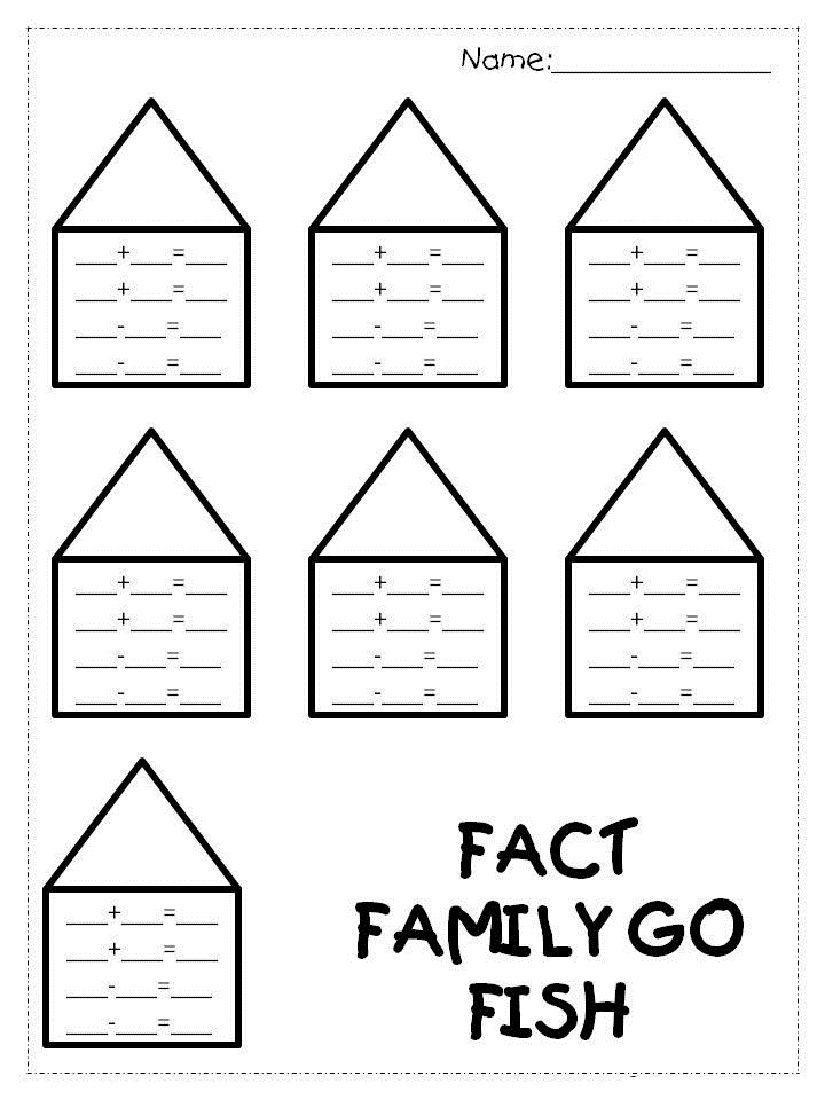 Worksheets Fact Family Worksheets fact family worksheets 1st grade kiddo shelter math shelter