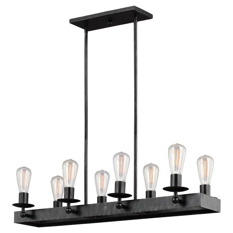 Shop sea gull lighting ravenwood manor 8 light island light at lowes canada find our selection of kitchen island lighting at the lowest price guaranteed