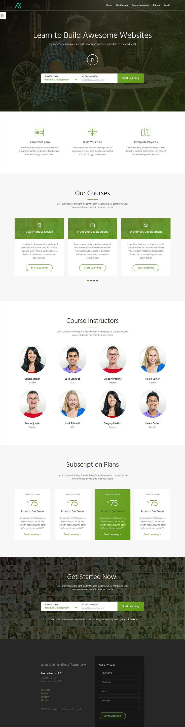 Nemo is a perfect #Bootstrap landing page #template for #edtech ...