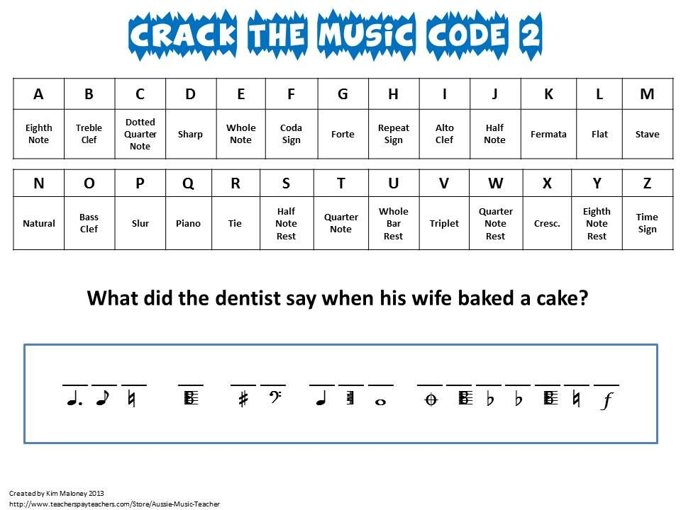 Music Games Crack The Music Code North American Terminology