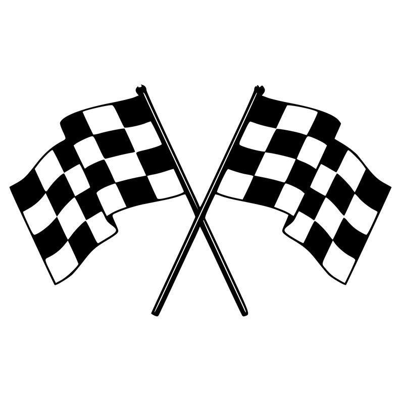 Checkered Flags Vinyl Sticker Racing Race Team Trailer Etsy In 2020 Vinyl Sticker Checkered Flag Automotive Logo Design