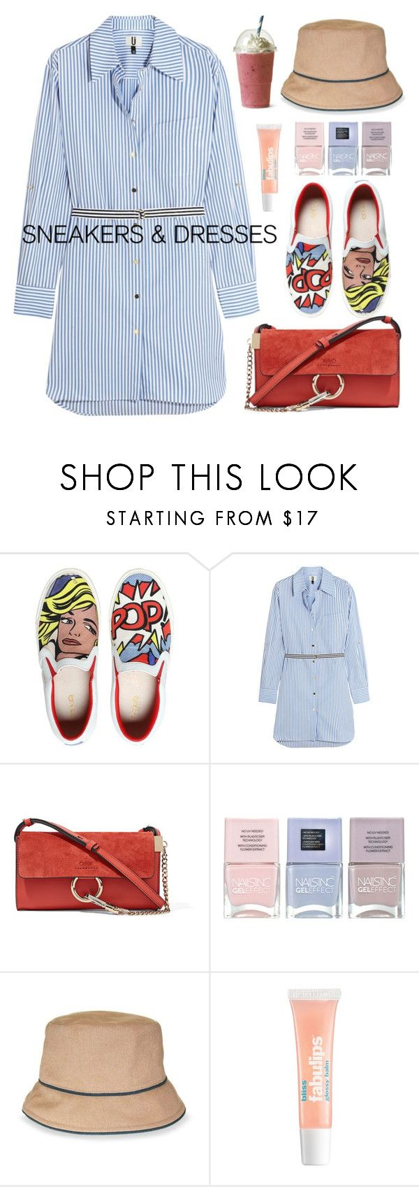 """88. Easy Fashion"" by milva-bg ❤ liked on Polyvore featuring MOA Master of Arts, Topshop Unique, Chloé, Nails Inc., Nine West and Bliss"