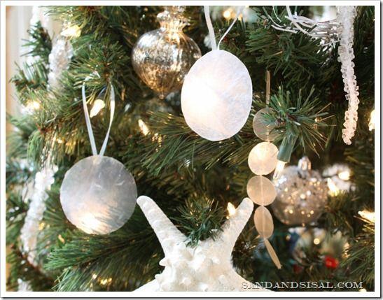 DIY Capiz Ornaments Capiz shell chandelier, Ornaments and