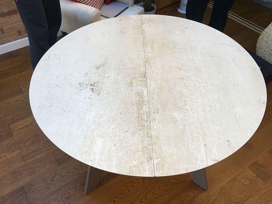 Premium Ceramic Top Table Moon Extendable Dining