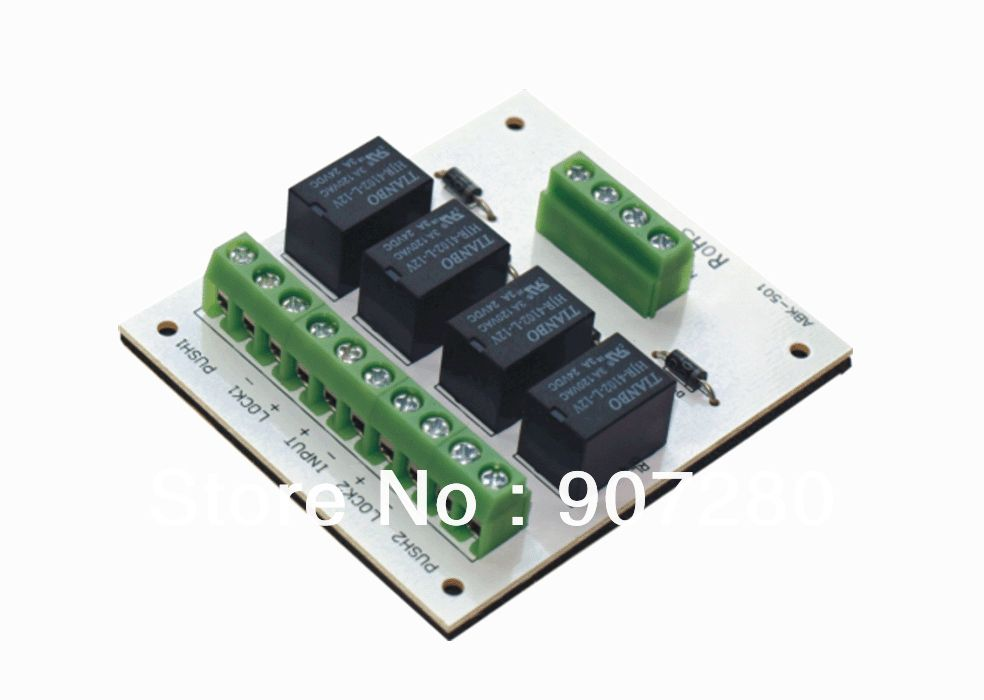 Two Door Interlocking System Relay Control Module Access Control Usb Flash Drive Protection