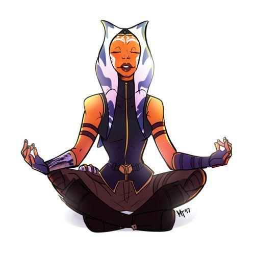 """melty-artz: """"""""Ahsoka and meditation. """" """""""
