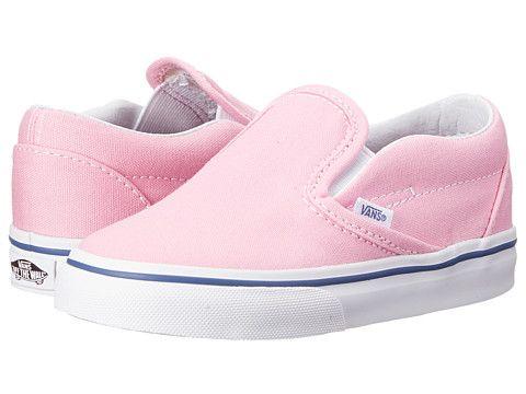 e16497b699 Vans Kids Classic Slip-On (Toddler) Prism Pink True White - Zappos.com Free  Shipping BOTH Ways