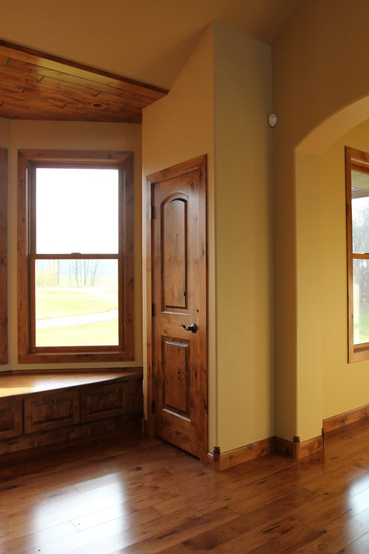 Rustic Wood Interior Doors interior doors | arch top two panel knotty alder doors create a