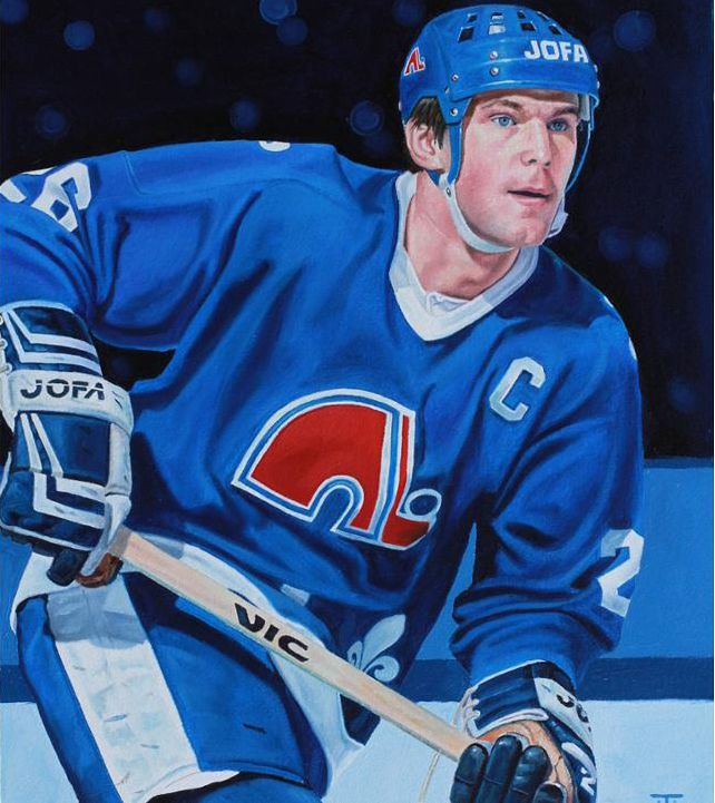 Peter Stastny Quebec Nordiques By Tony Harris Hockey Teams Quebec Nordiques Nhl Hockey
