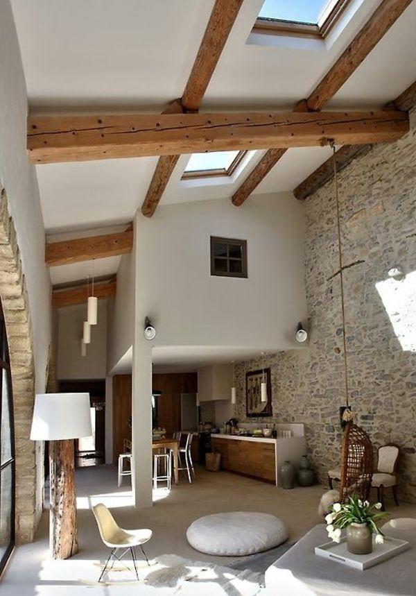 mauersteine naturstein wandgestaltung wohnzimmer Wohnzimmer - wohnzimmer ideen wandgestaltung