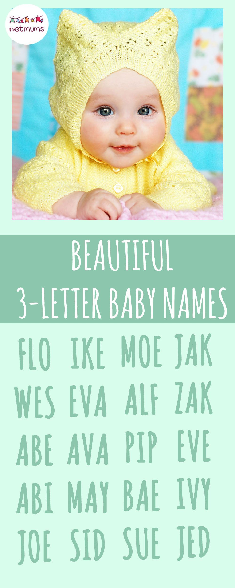 3-letter baby names. If you're looking for something short and sweet, then we may be able to help, with this lovely long list of three-letter baby names for ...