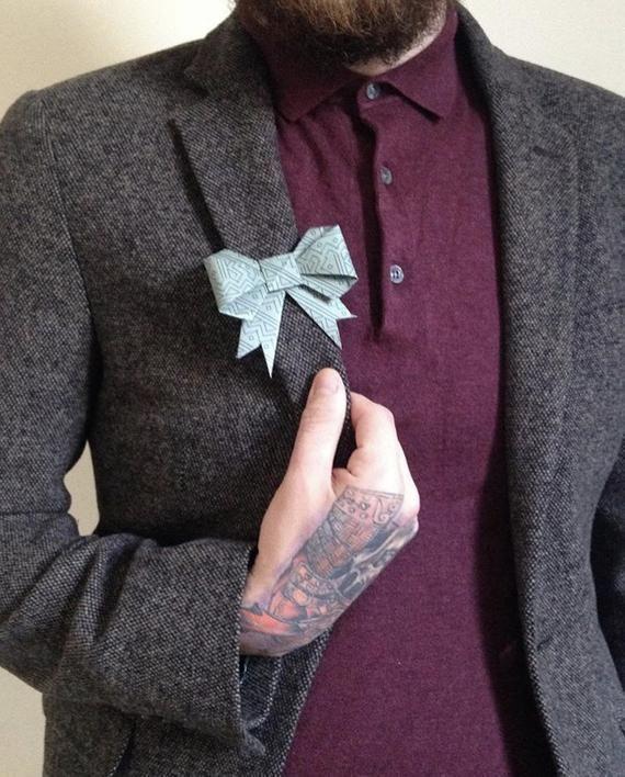 Photo of Origami Bow Abzeichen-    Origami Bow Abzeichen      –  origami5.decordiy….