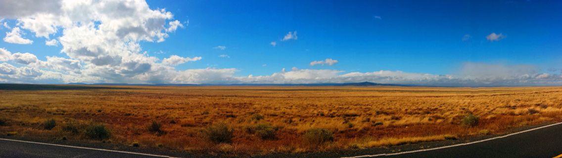 Near the meteor crater in Arizona