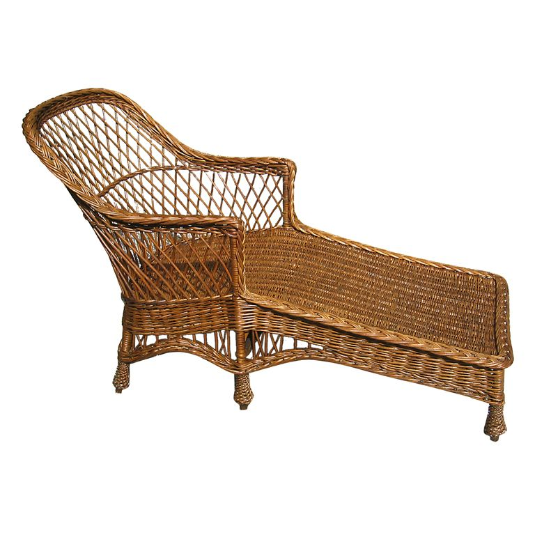 Bar Harbor Wicker Chaise Longue  sc 1 st  Pinterest : antique wicker chaise lounge - Sectionals, Sofas & Couches