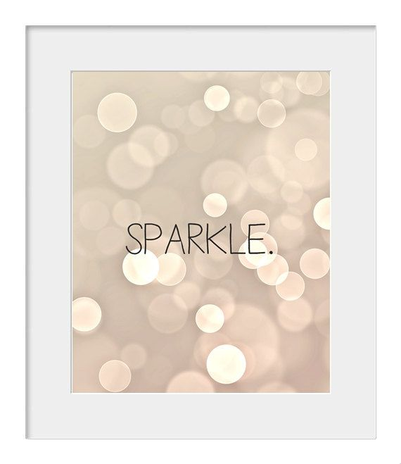 8x10 Digital Files Typography Print Sparkle By JMPaper On