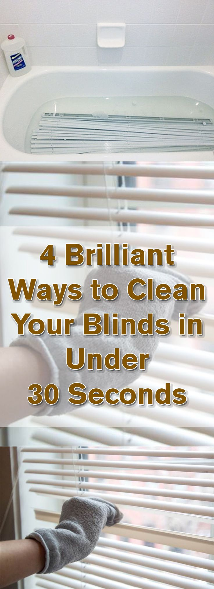Brilliant Ways To Clean Your Blinds In Under Seconds - 30 brilliant life hacks