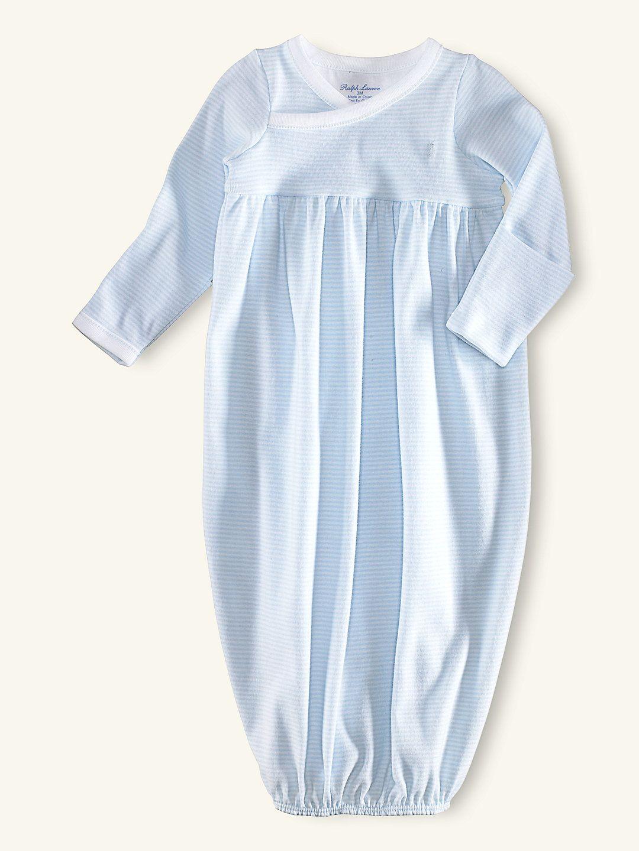e6f03f91 Blue Striped Gown - One-Pieces Layette Boy (Newborn–9M ...