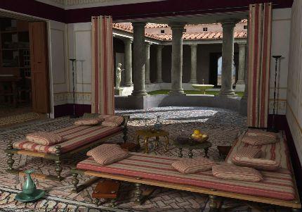 roman dining room | triclinium, dining room | Ancient roman houses, Roman ...