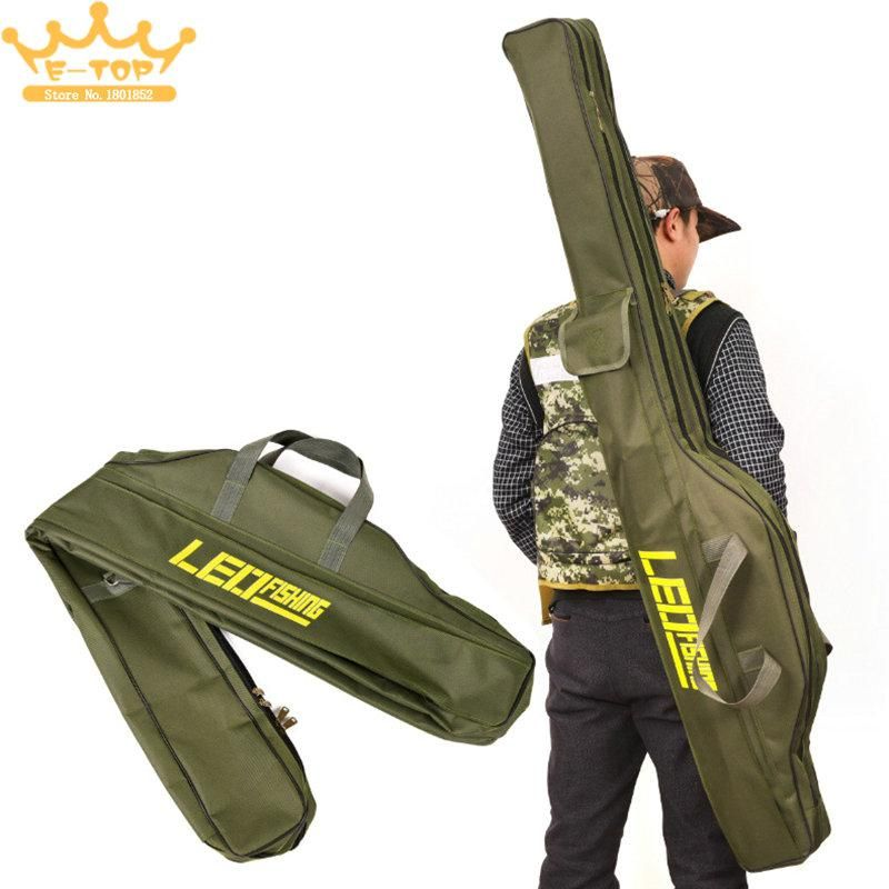 1.5M 2 Compartments Multi purpose Foldable Fishing Rod Bag