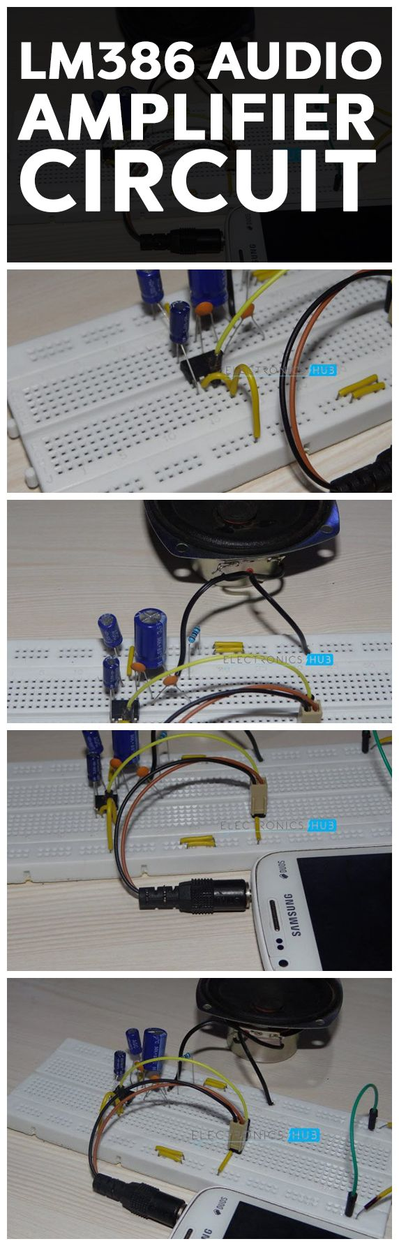 Lm386 Audio Amplifier Circuit Pinterest Simple Tachometer Making Easy Circuits And Speakers